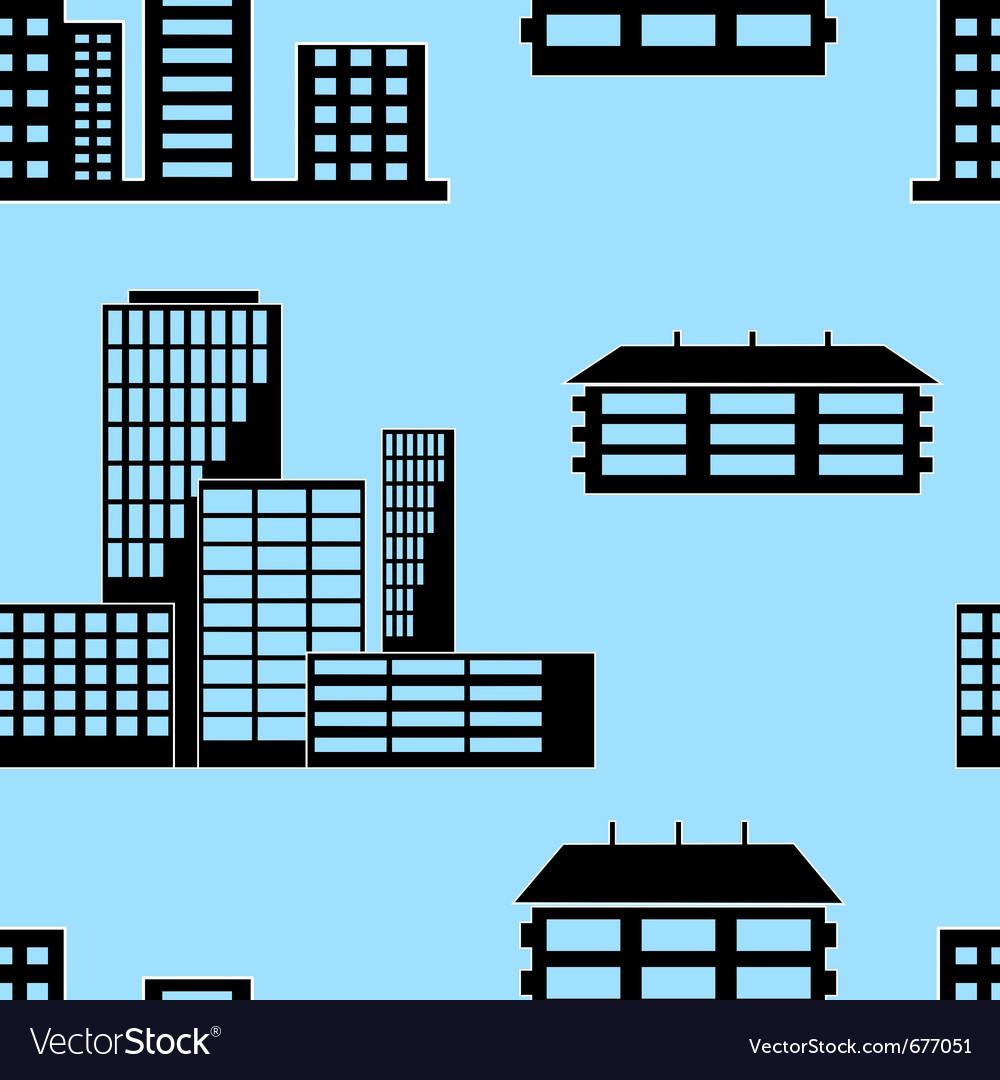 Buildings seamless vector