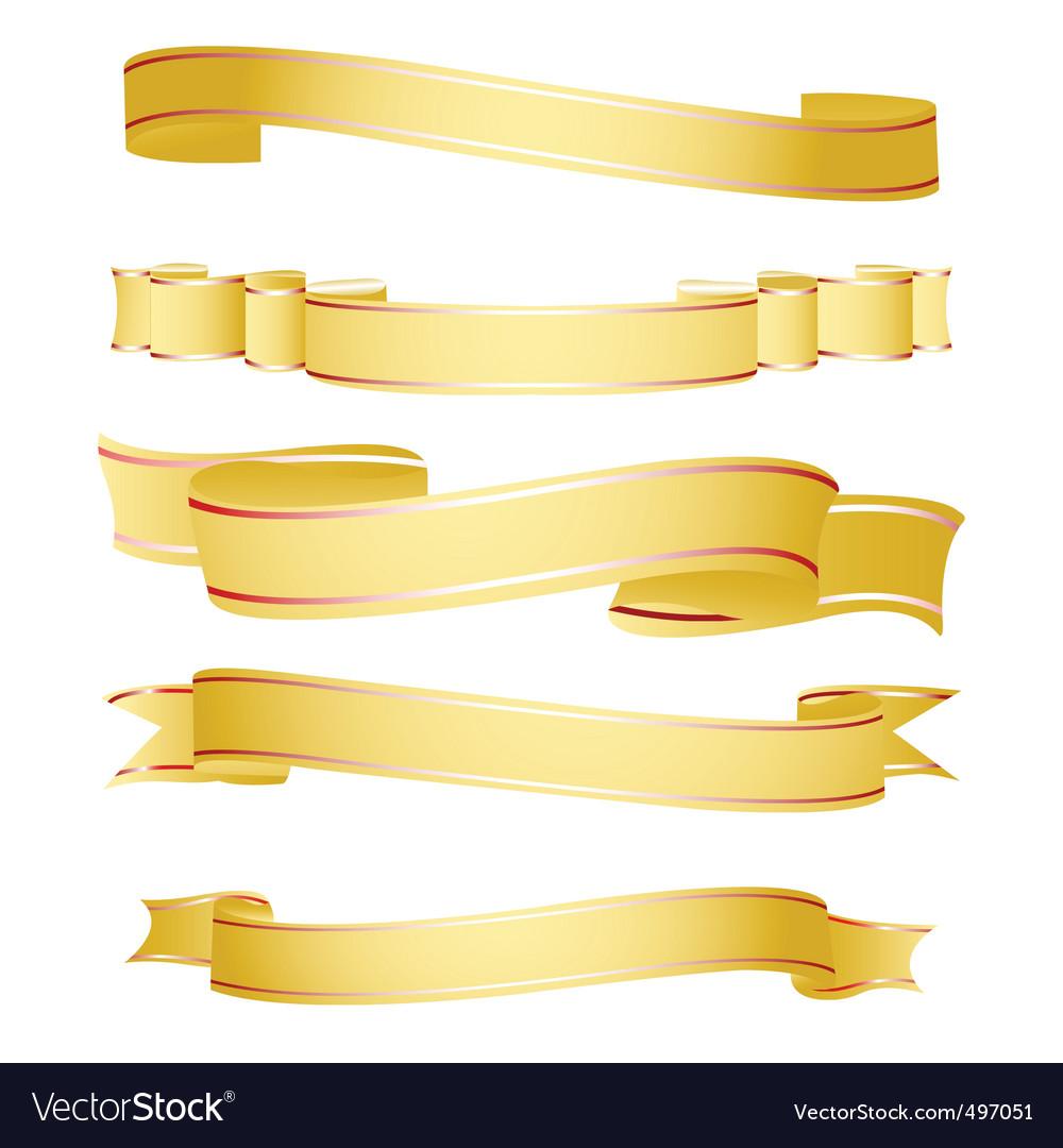 Shapes of ribbon vector