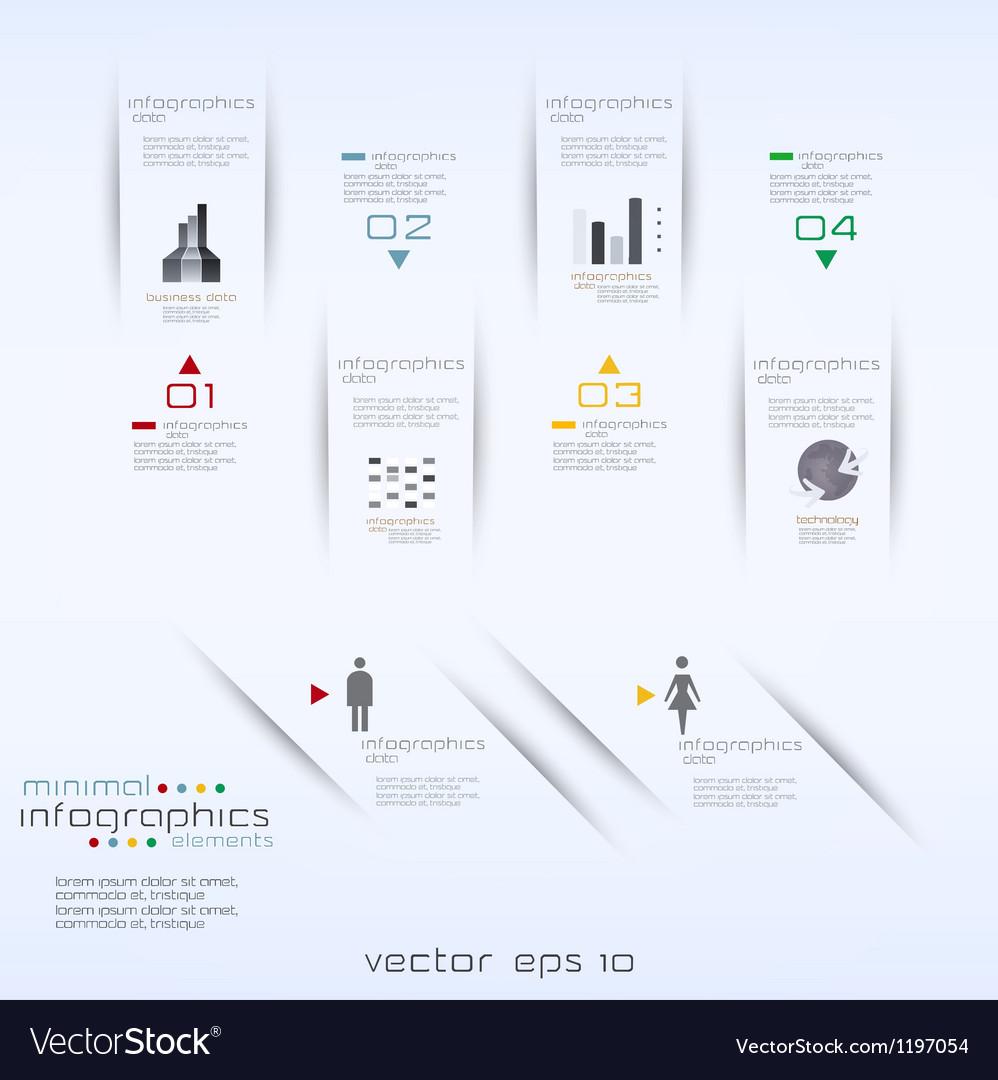 Infographics retro minimal vector