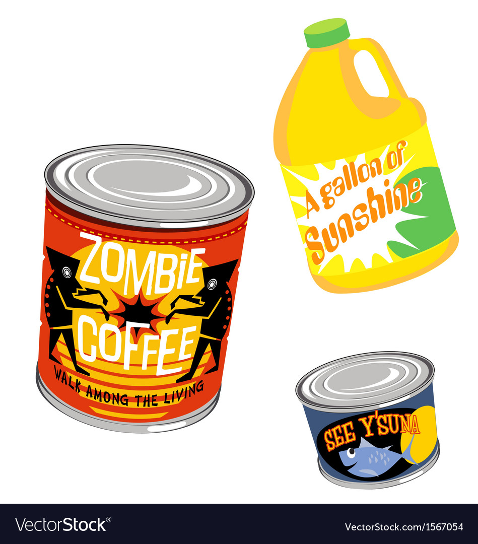 Retro grocery product packaging 2 vector