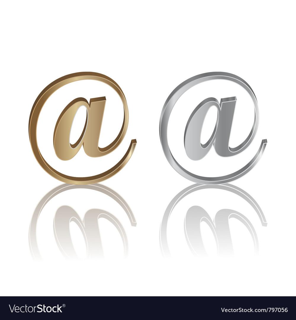 E-mail internet icon vector