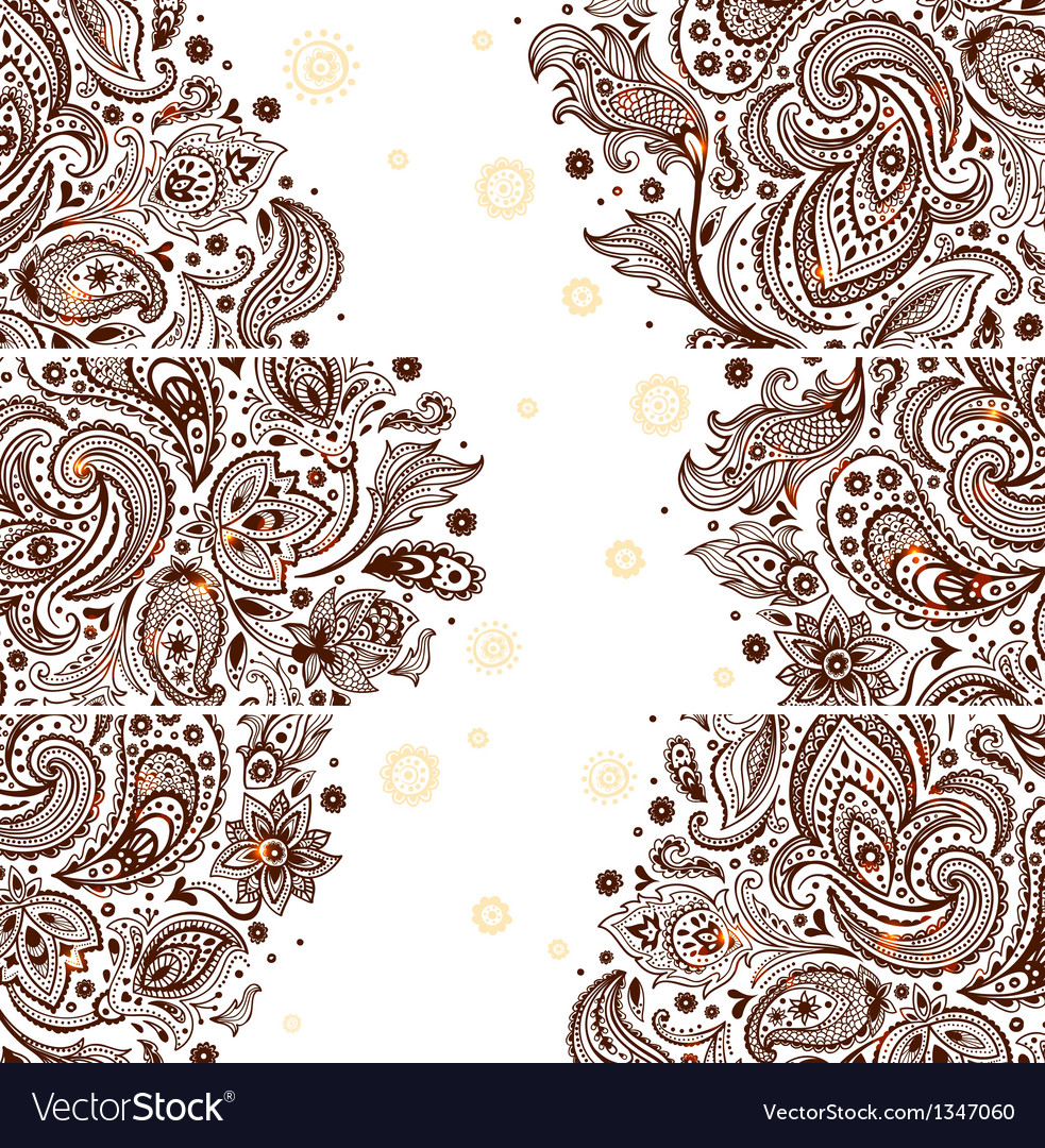 Set of beautiful vintage ornate banners vector