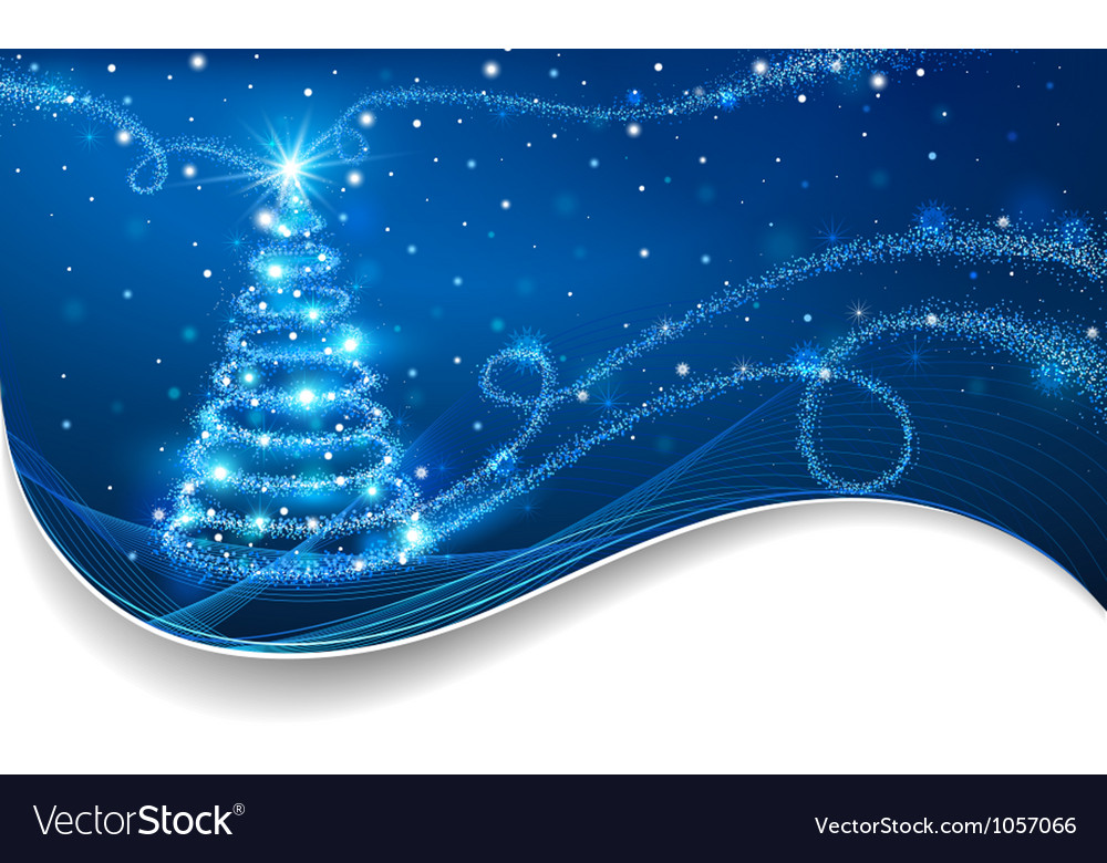 The magic christmas tree vector
