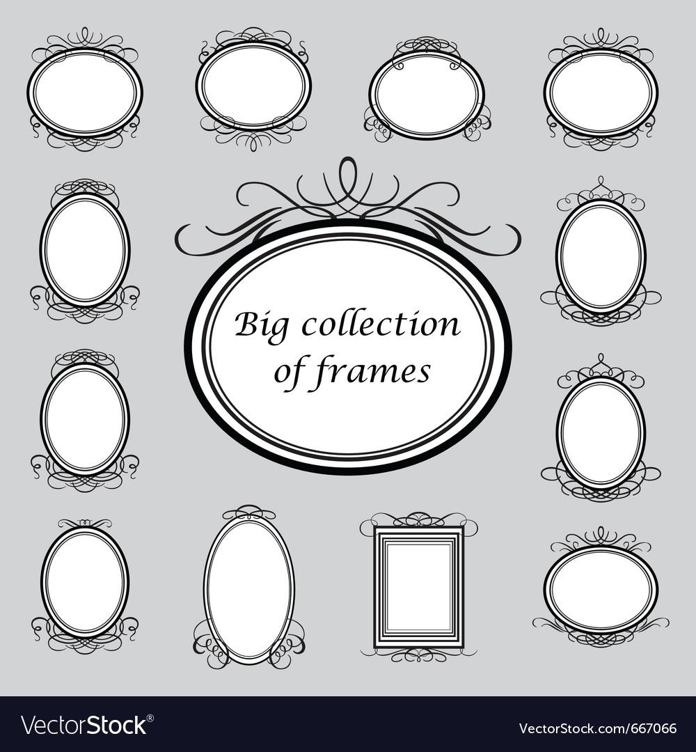 Vintage frame templates vector
