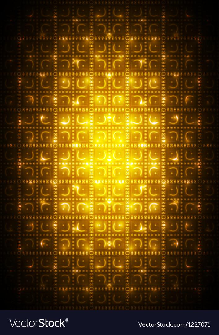 Digital yellow background vector