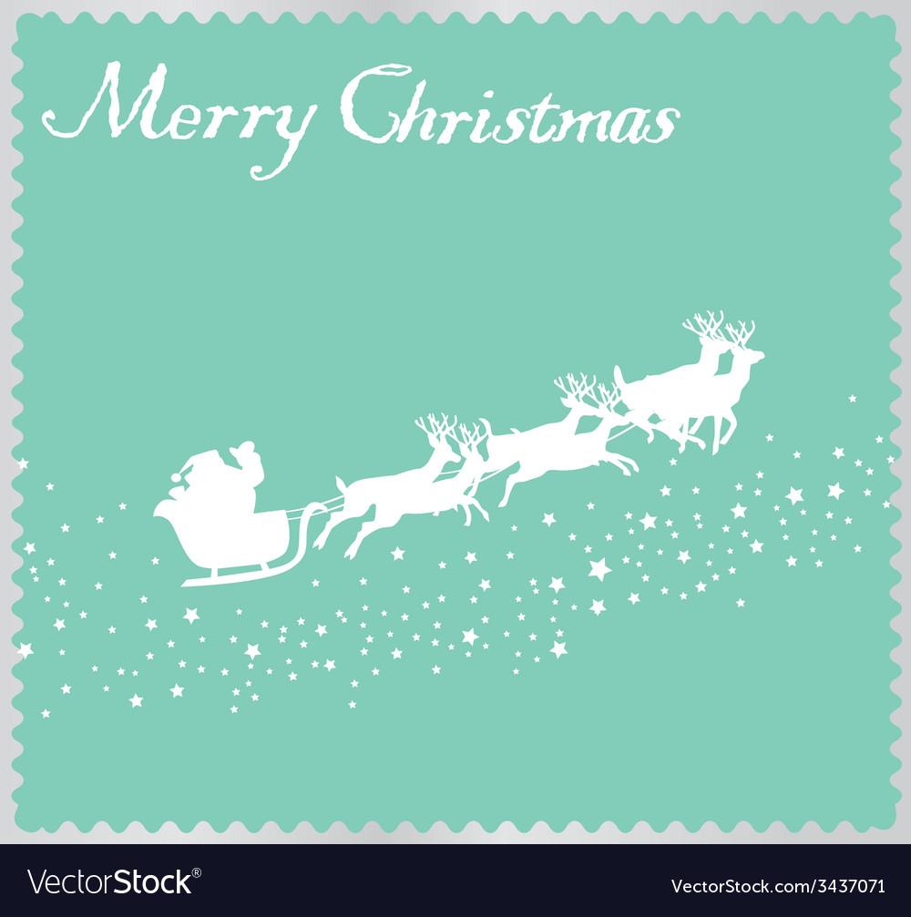 Santa star vector