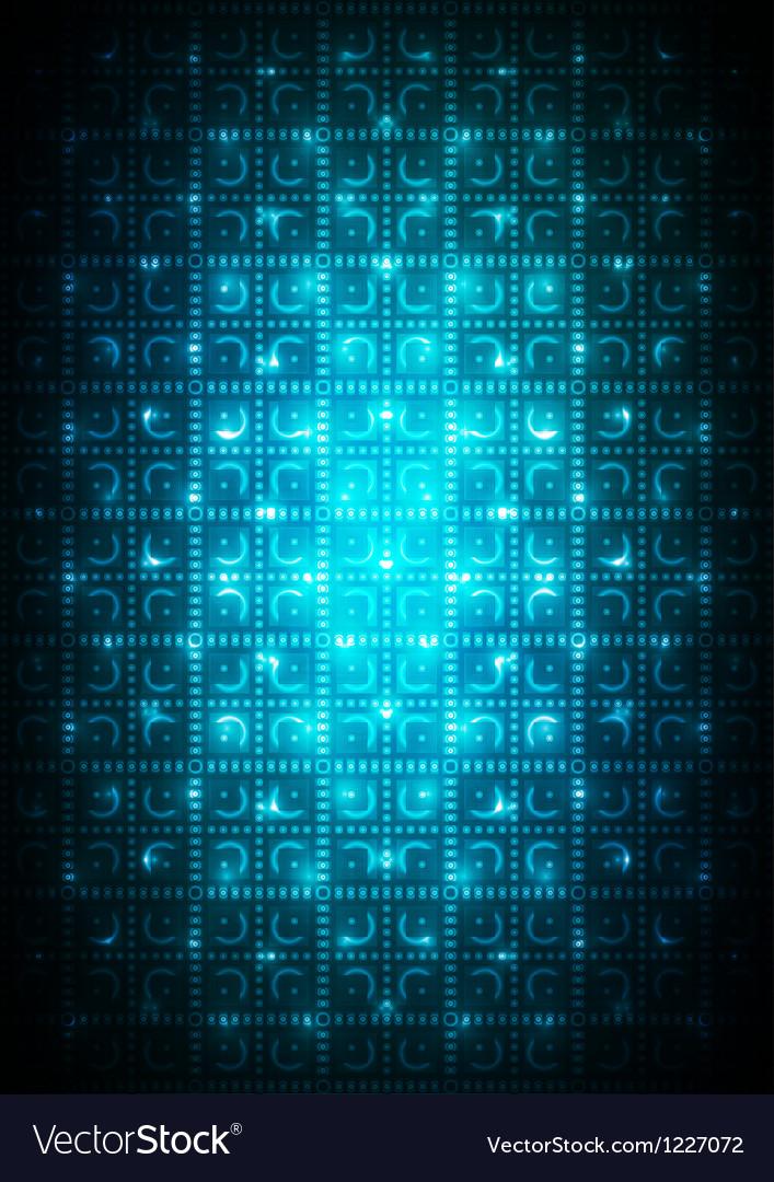 Digital blue background vector