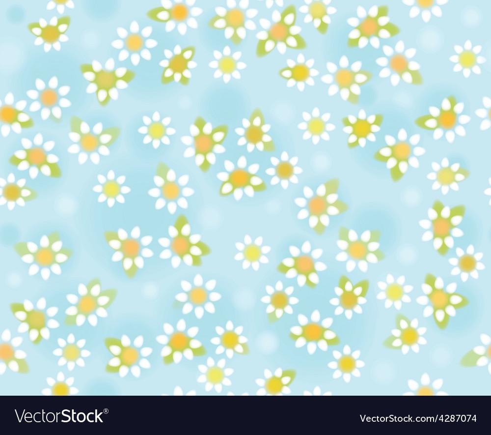 Blue floral pattern vector