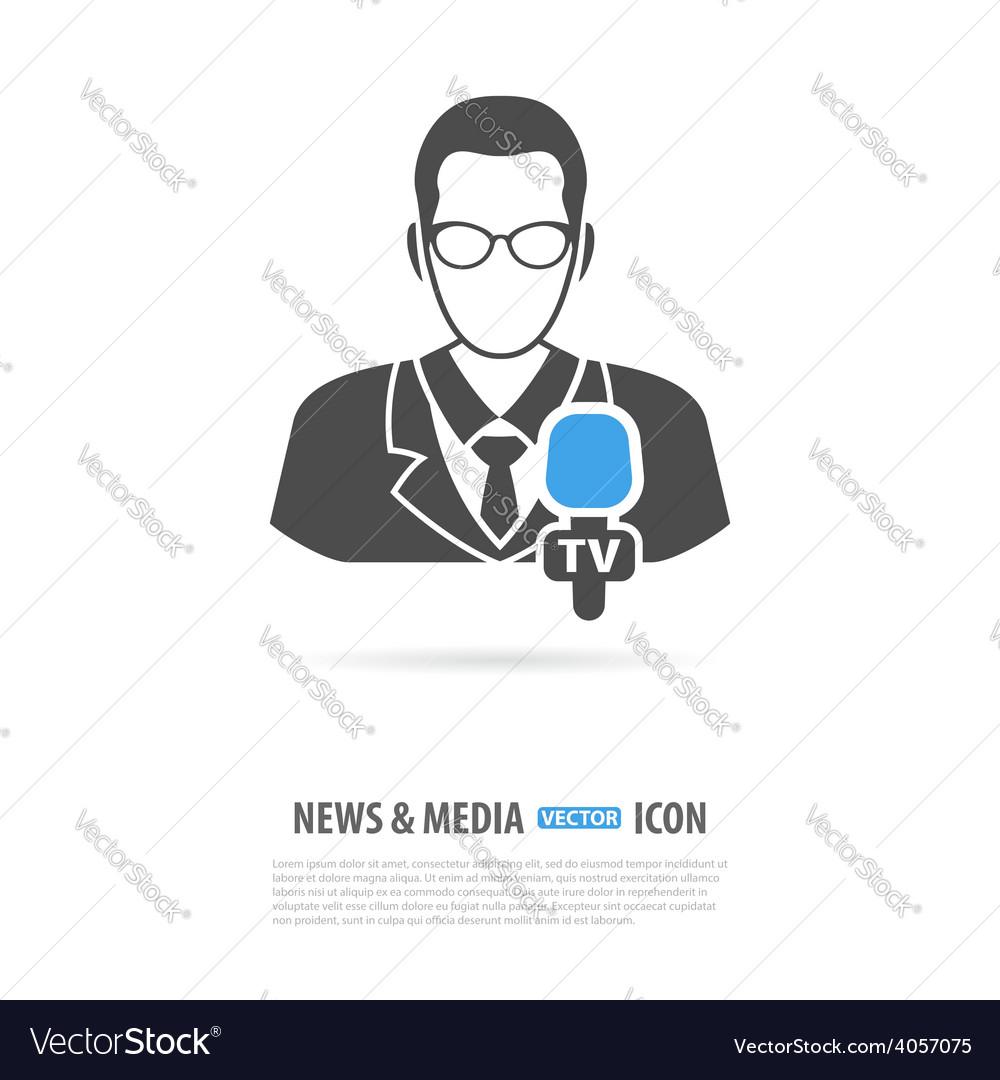 Media and news logo vector