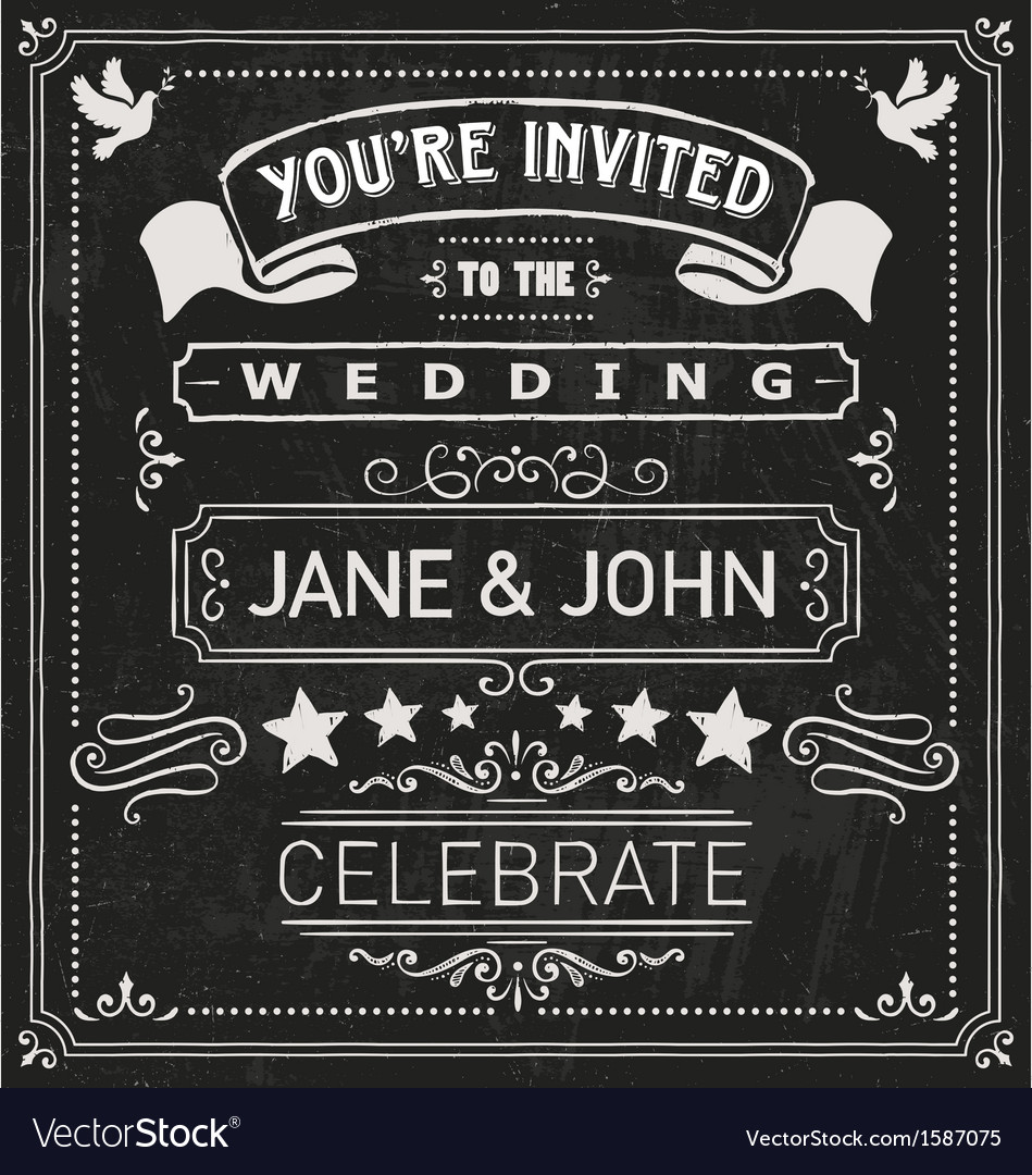 Wedding invite elements vector