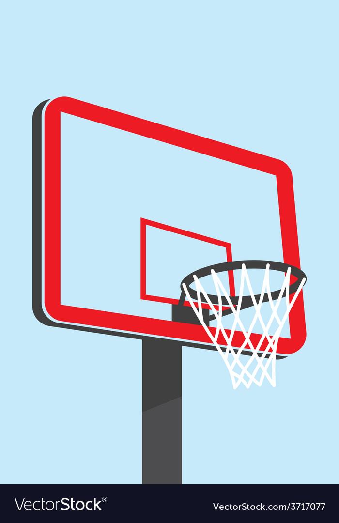 Basketball backboard silhouette vector