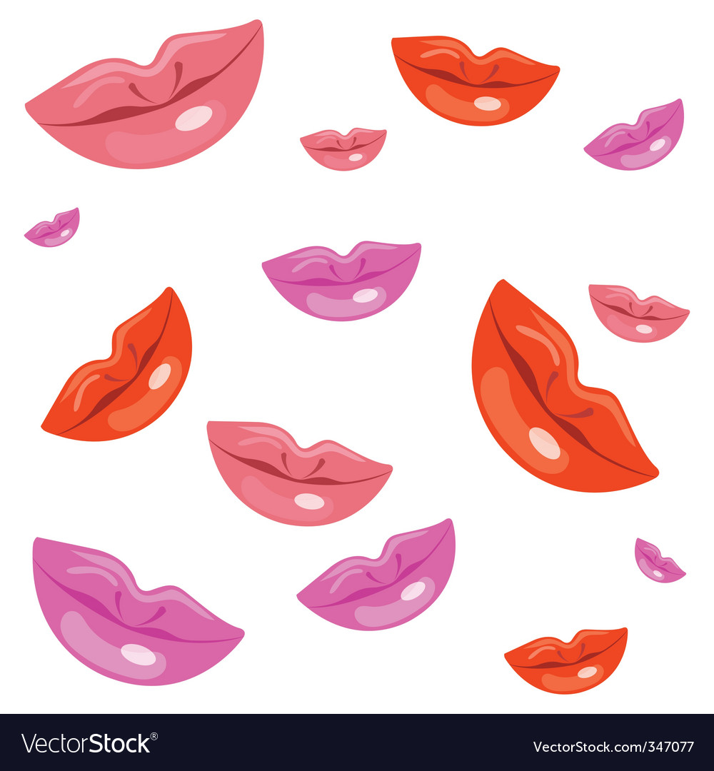 Lady lips vector