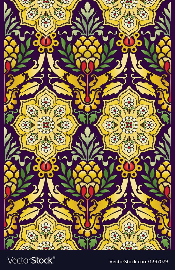Classic seamless pattern multicolored vector