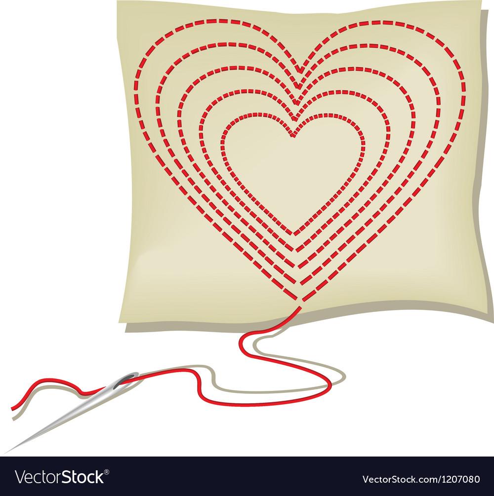 Handcraft heart vector