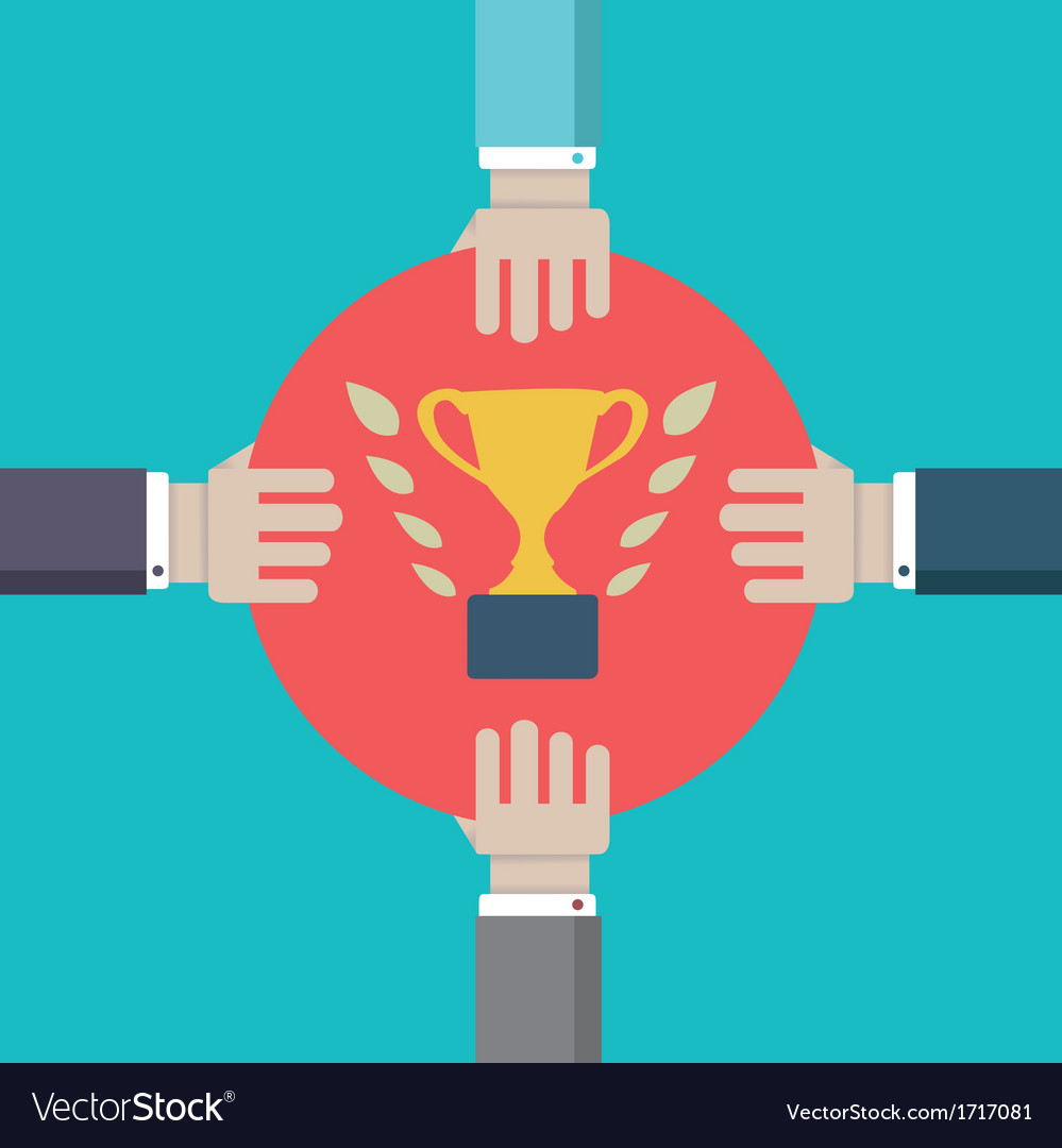 Concept of competition struggle for leadership vector