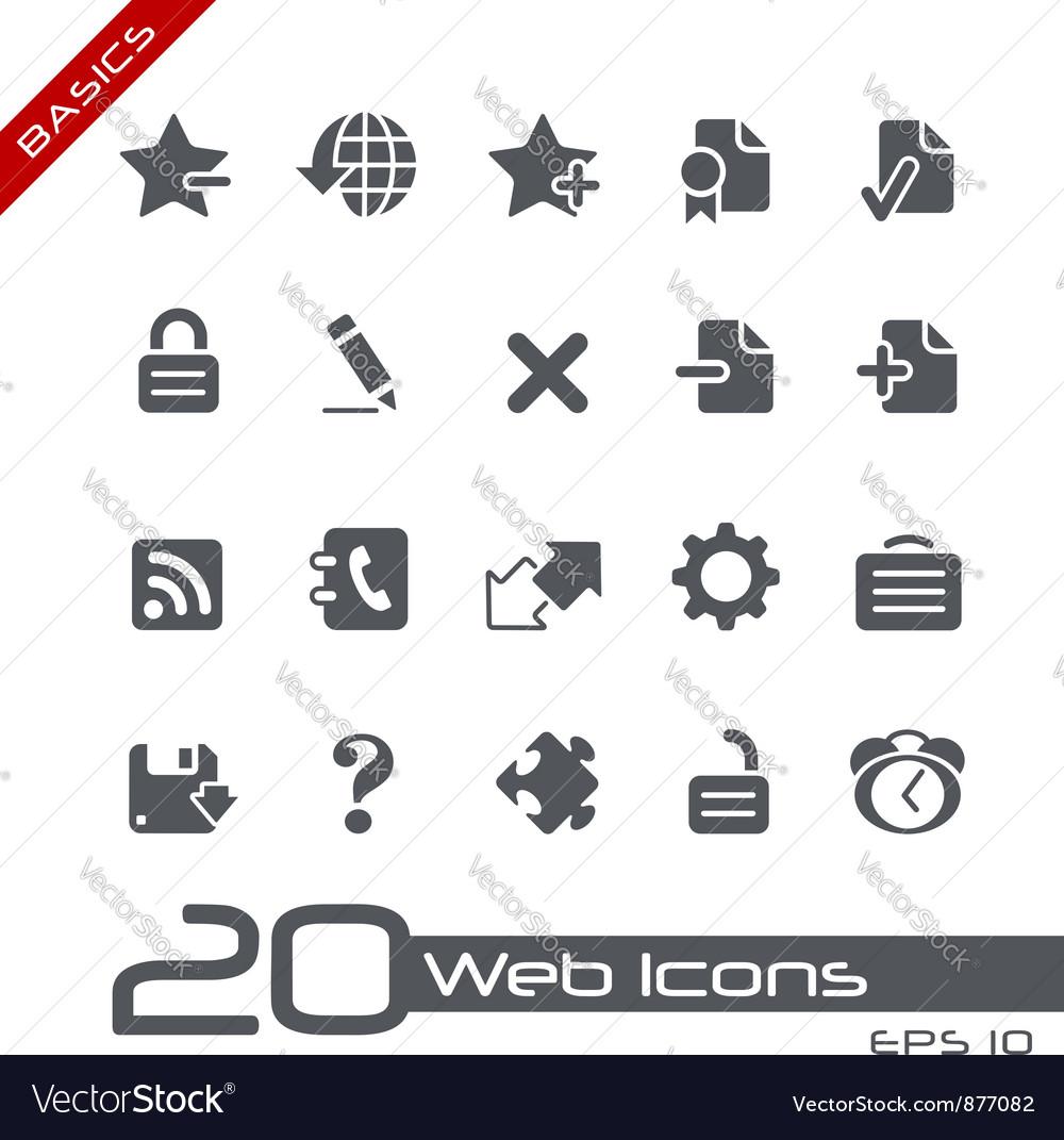 Web 20 basics series vector