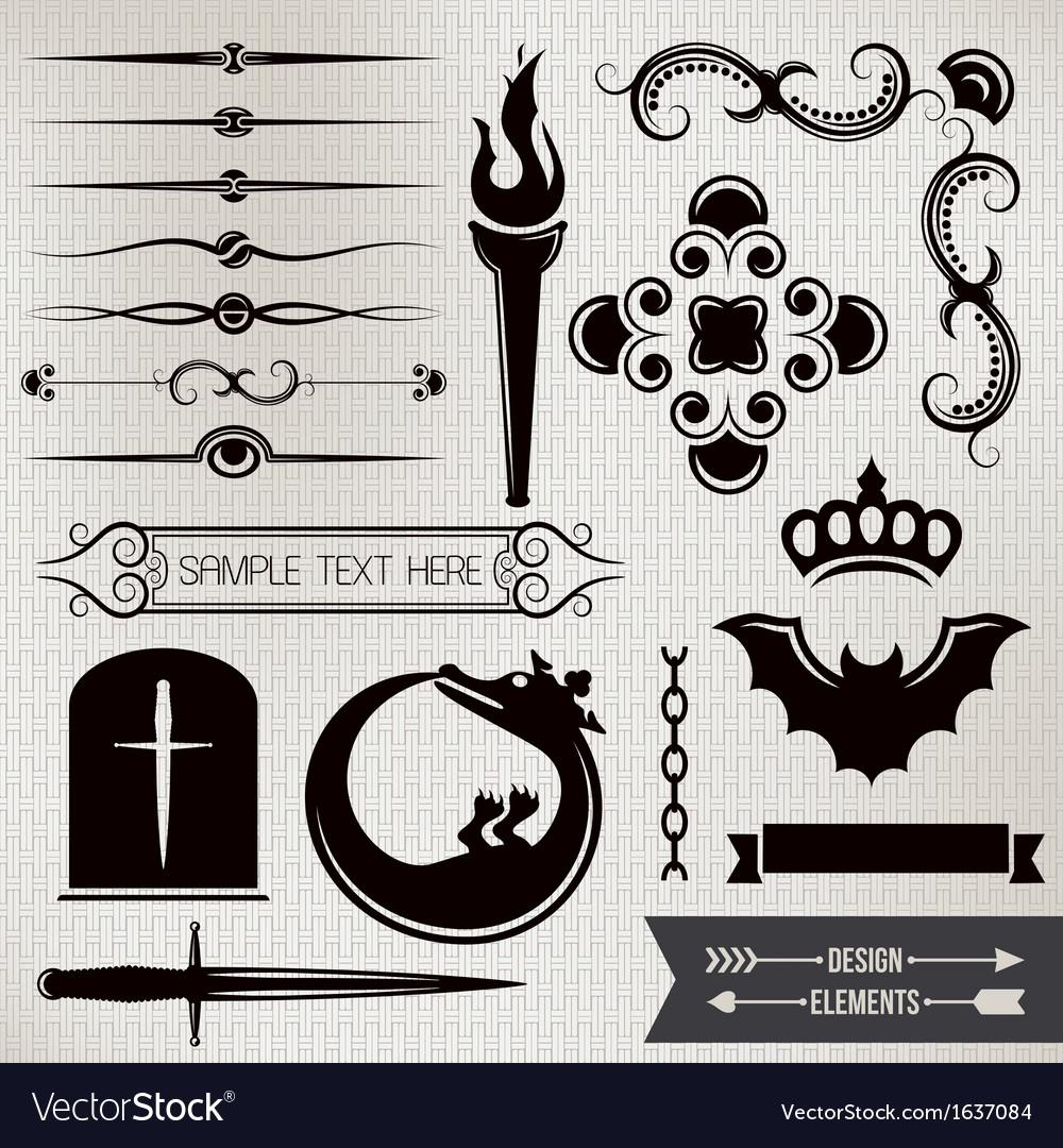 Design elements part 4 vector