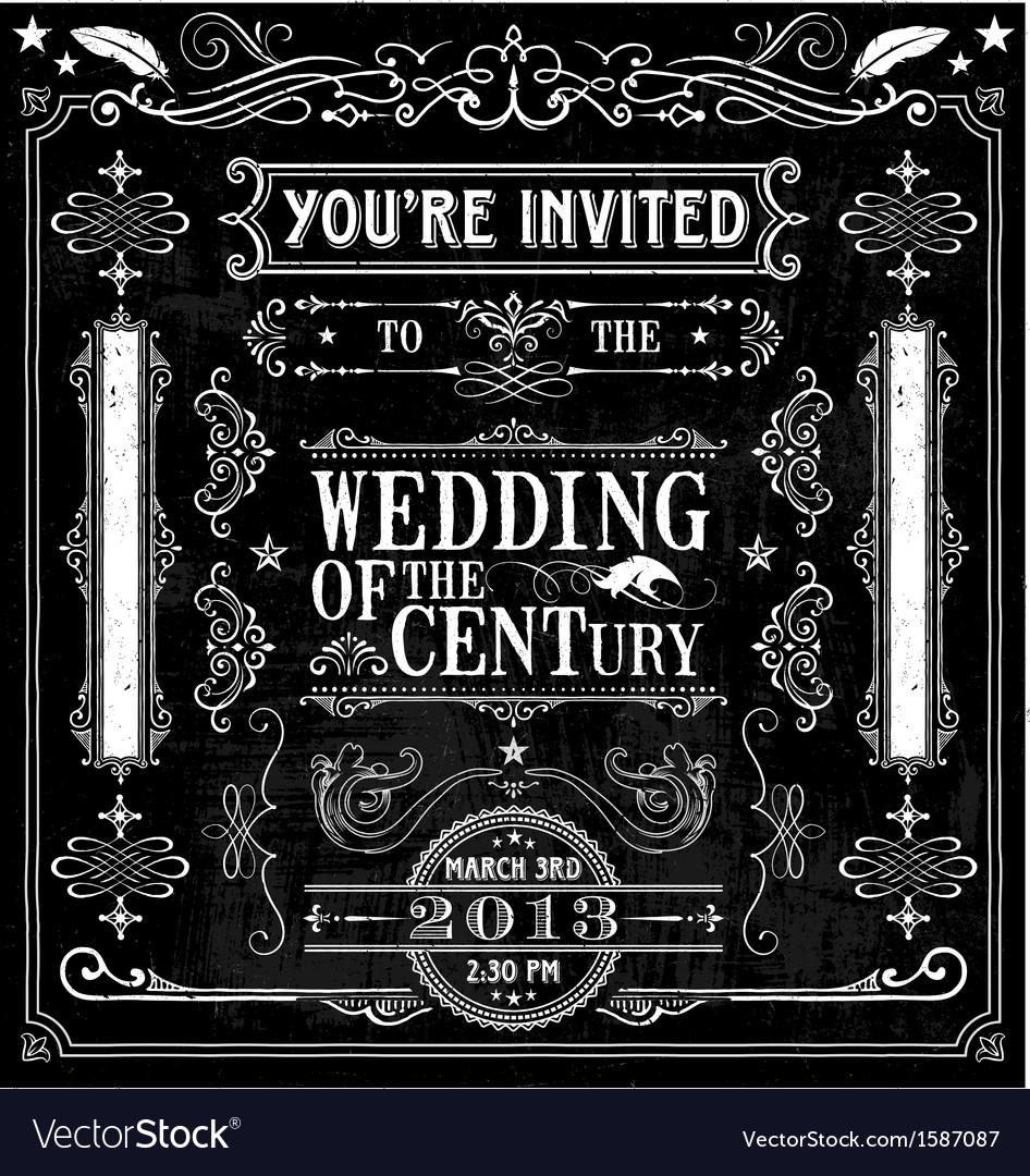 Wedding invitation design elements vector