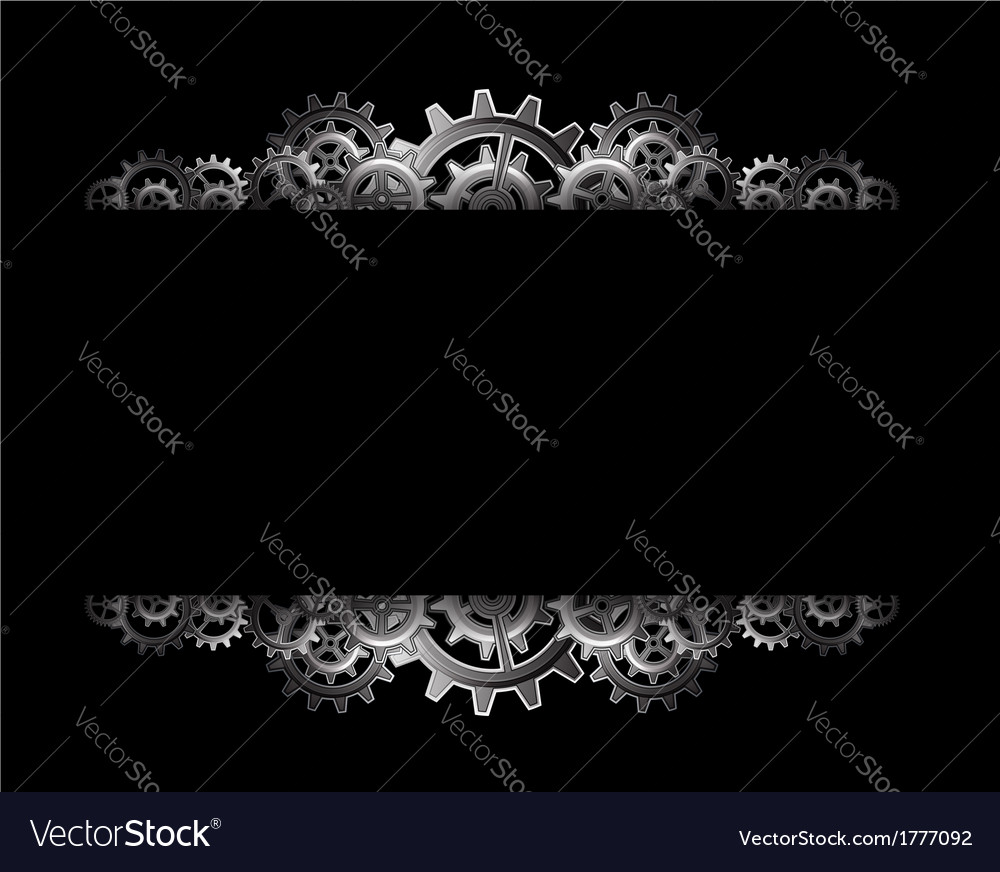 Steampunk gears frame vector
