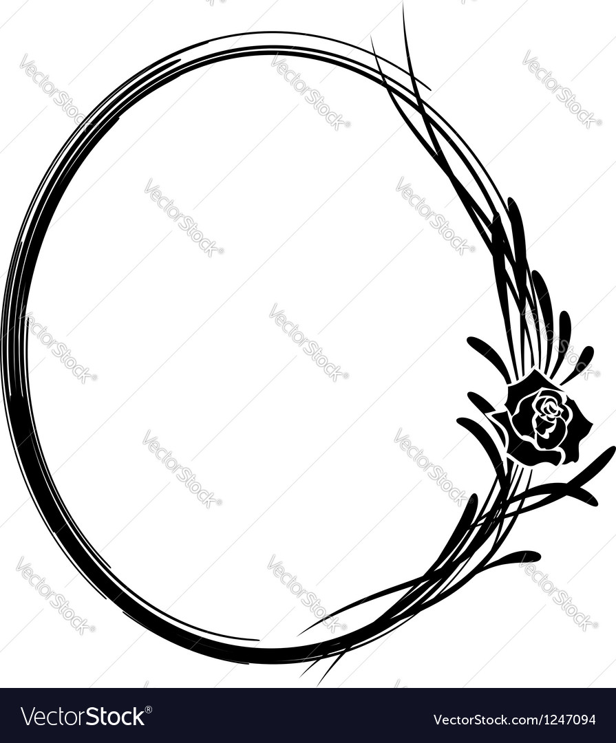 Frame with flowers of rose vector