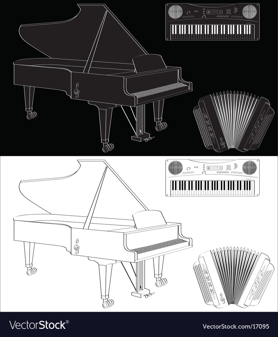 Keyboard instrument vector