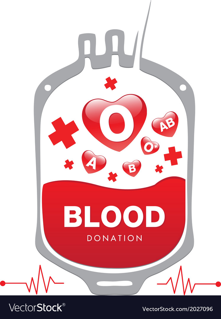 Blood donation medical vector