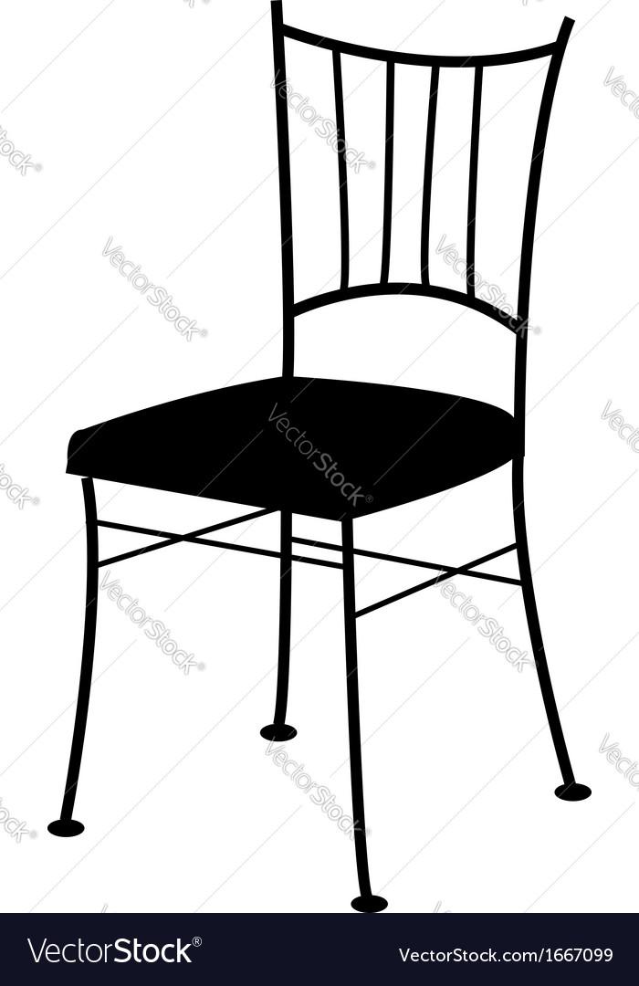 Dining chair- logo for interior design vector
