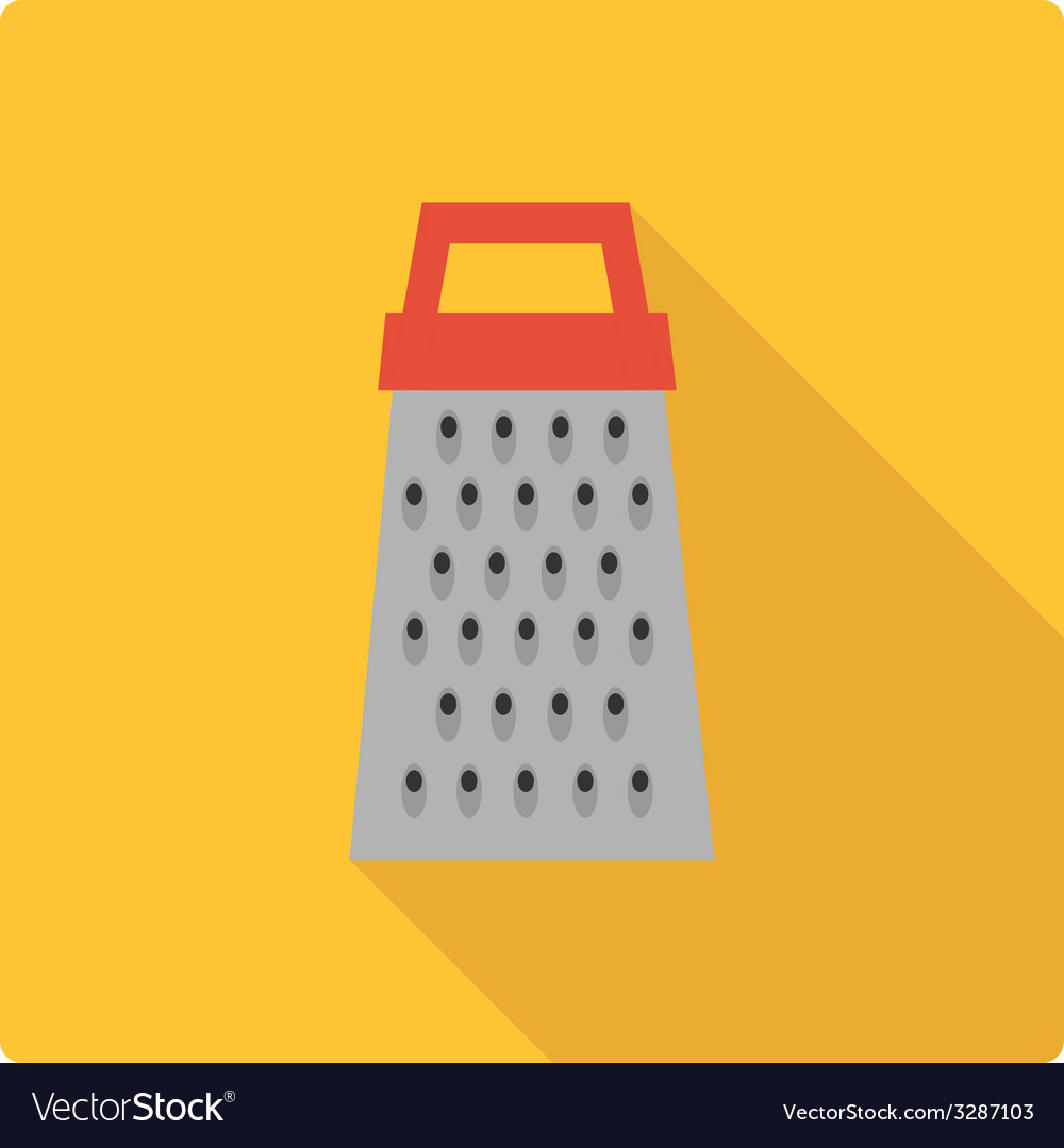 Grater simple flat vector
