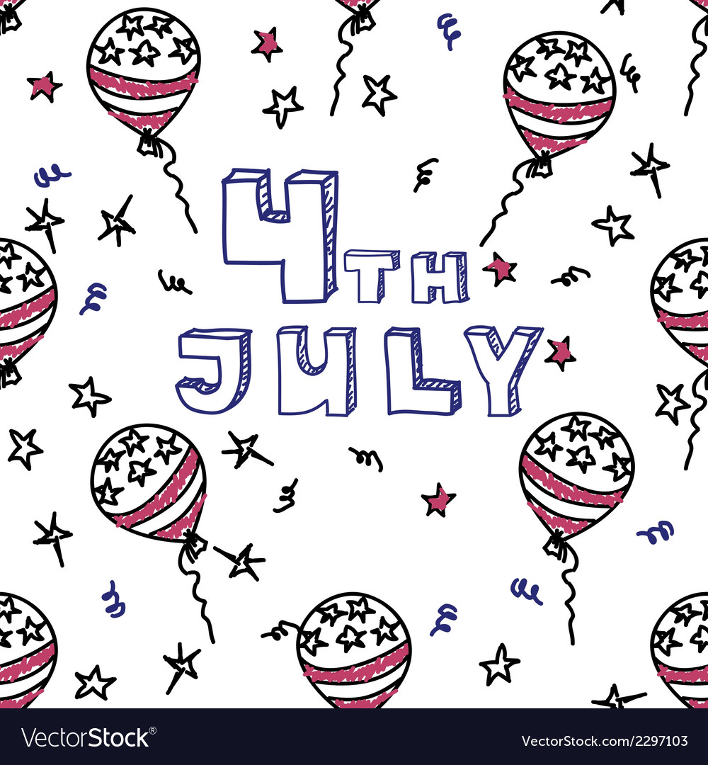 Independence day celebration card 4th july vector