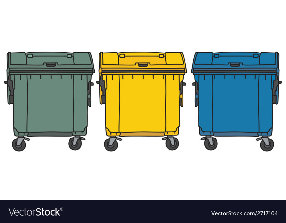 Recycling containers vector