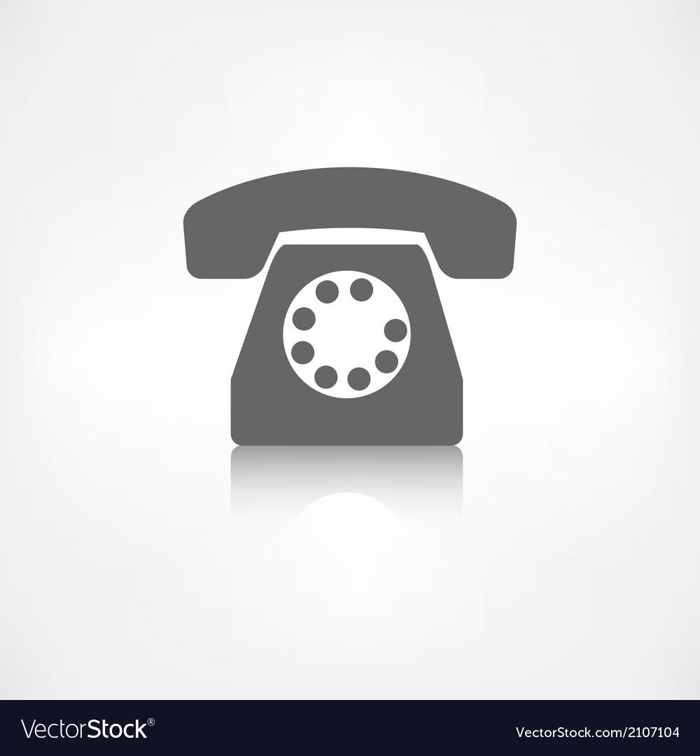 Retro telephone web icon vector