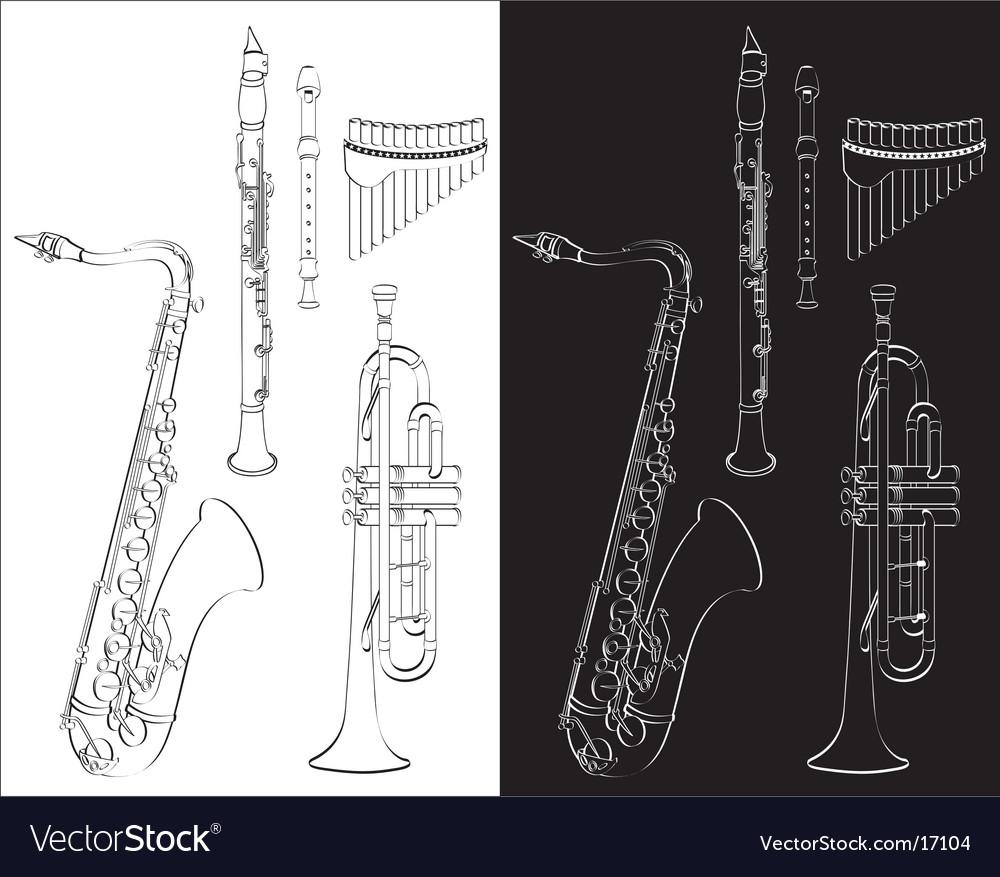 Wind instruments vector