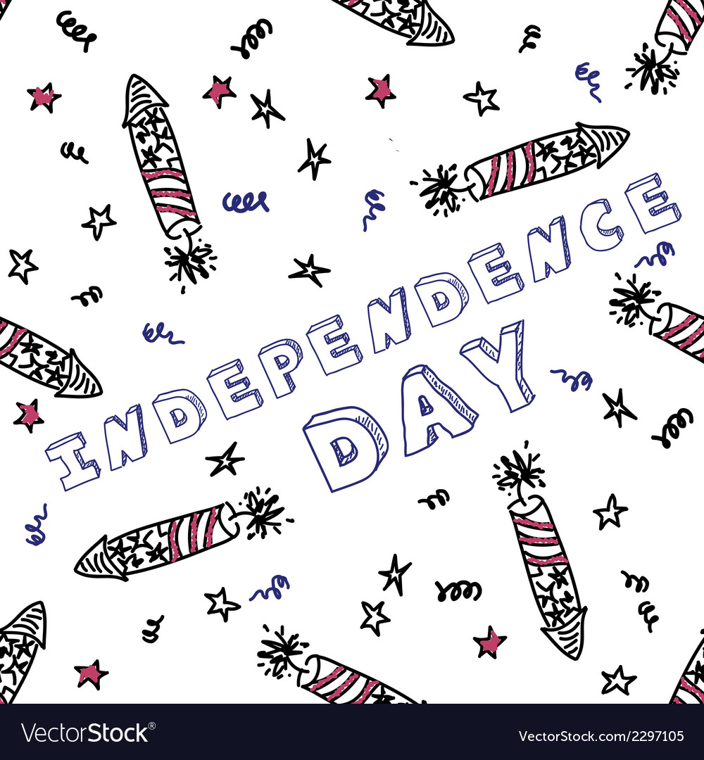 Independence day celebration card with text vector