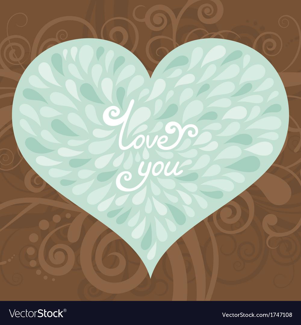 Love greeting card vector