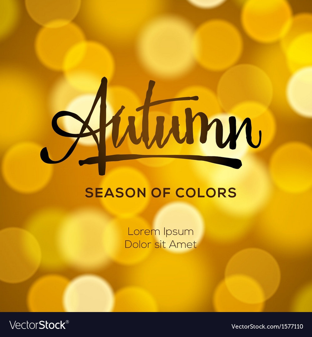 Abstract autumn defocused gold background vector