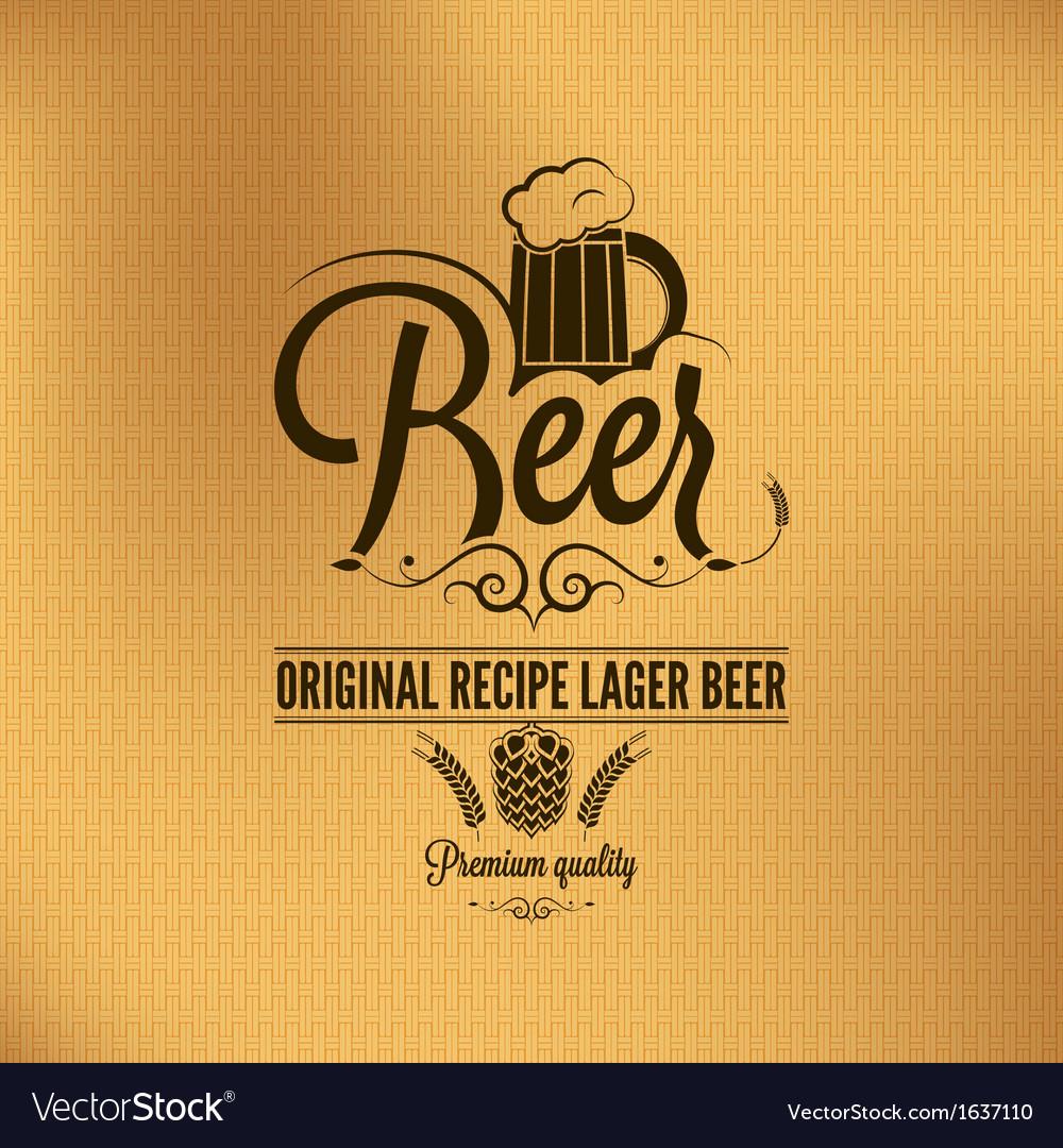 Beer label background vector