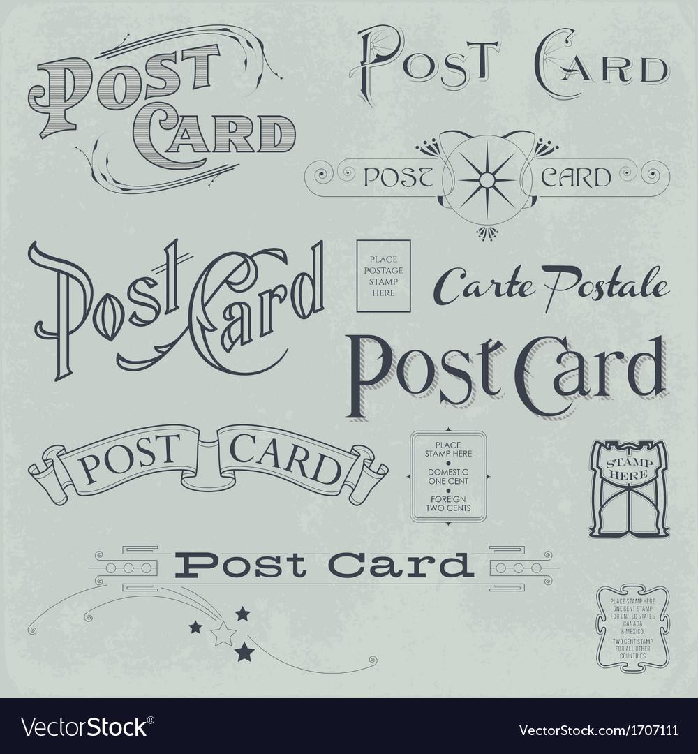 Postcard backside designs vector