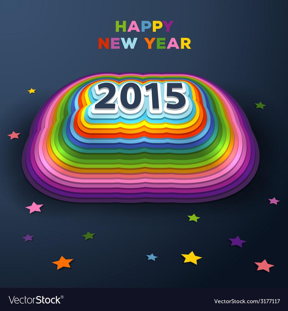2015 colorful paper decor vector