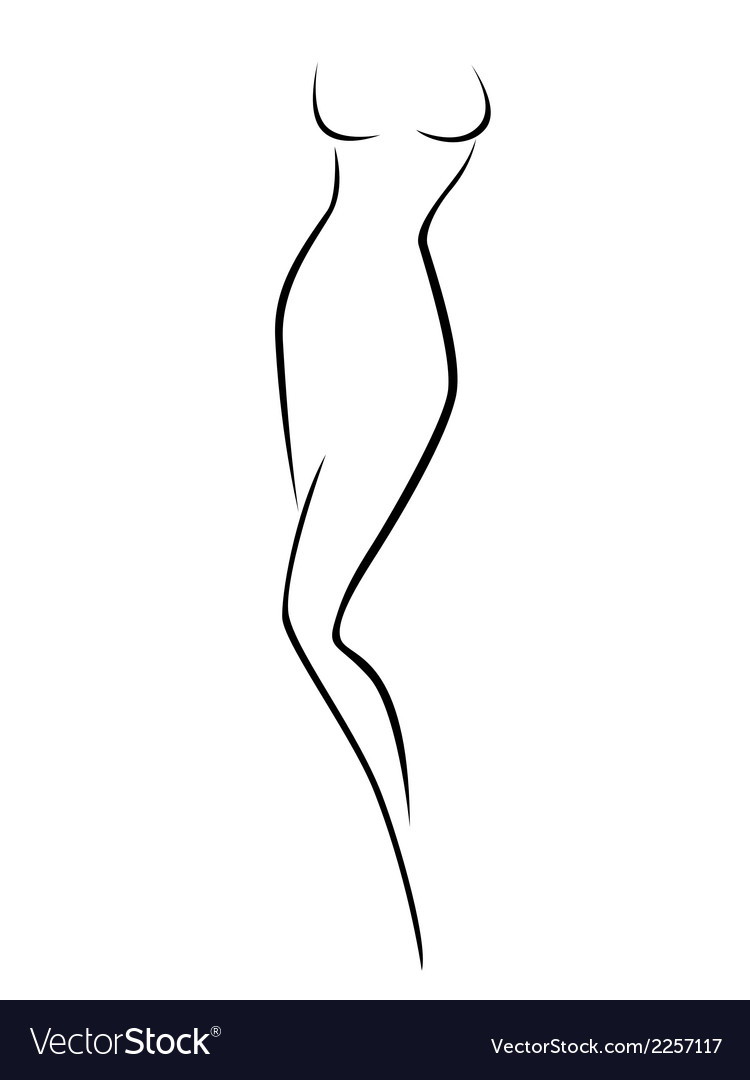 Abstract female body contour vector