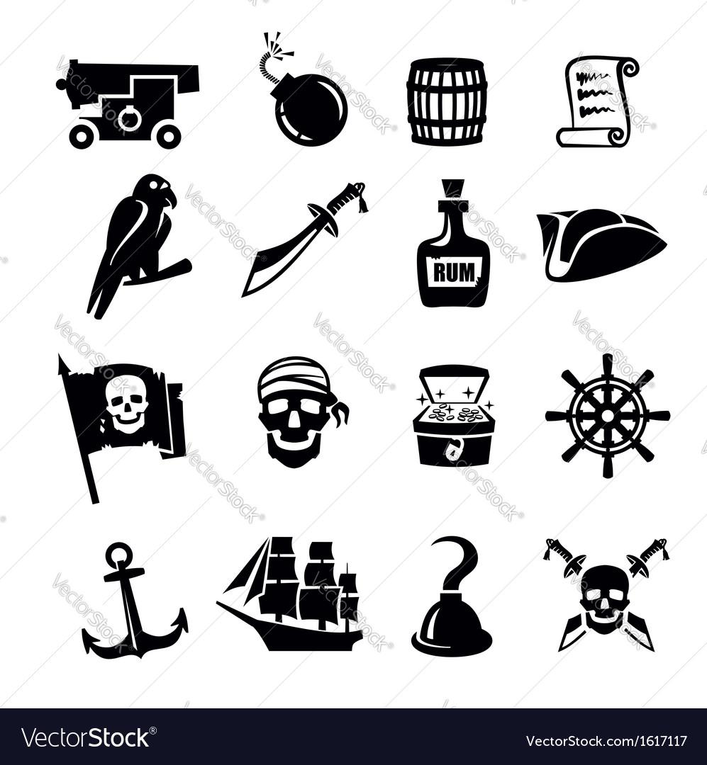 Pirates icon vector