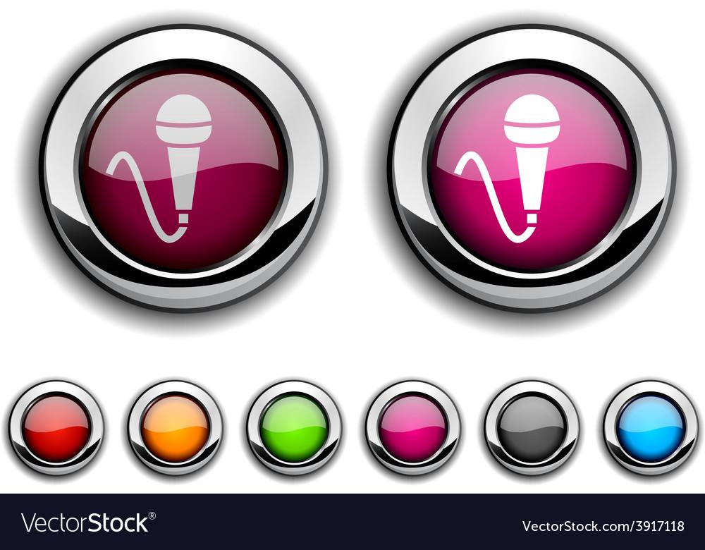Mic button vector