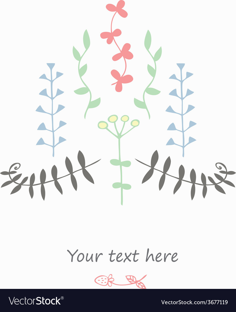 Gentle decor with flowers vector