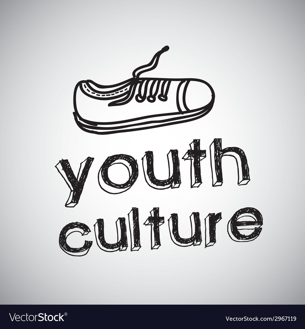 Youth culture design vector