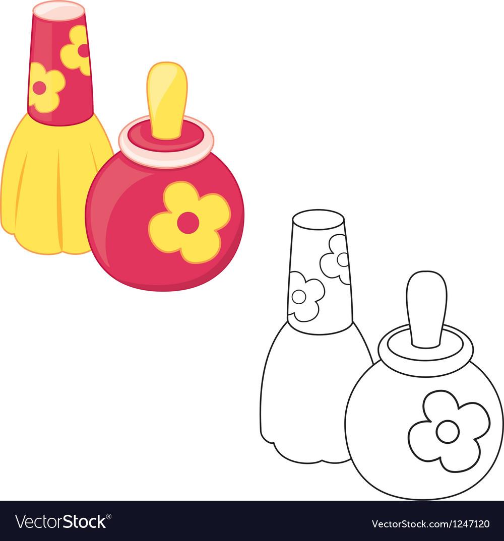 Toy perfume bottles vector