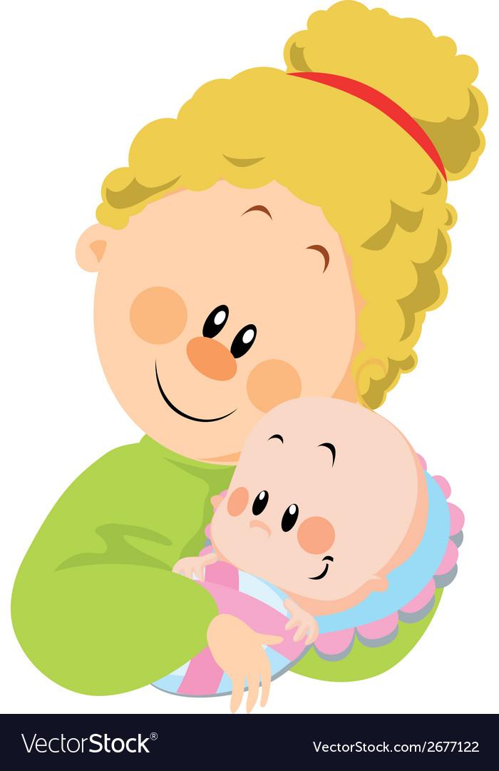 Mum and baby vector