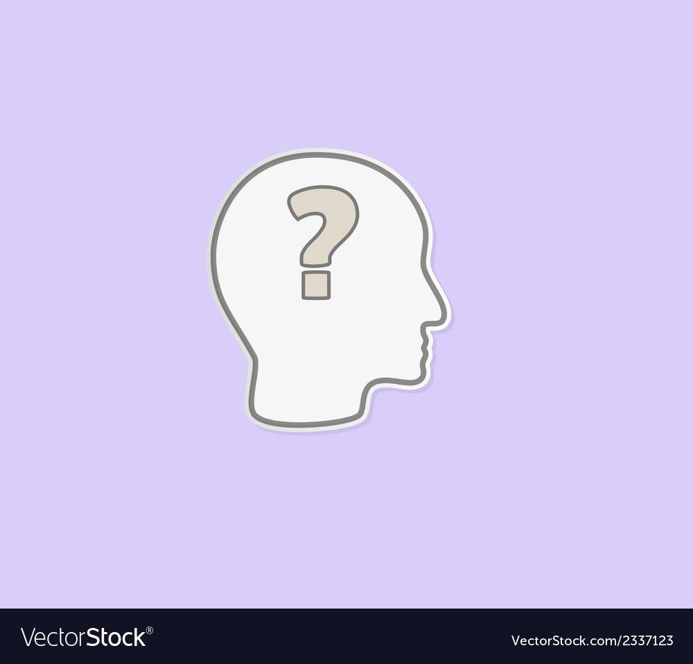 Question mark in head vector