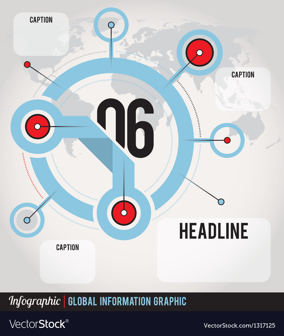 Global information infographic vector