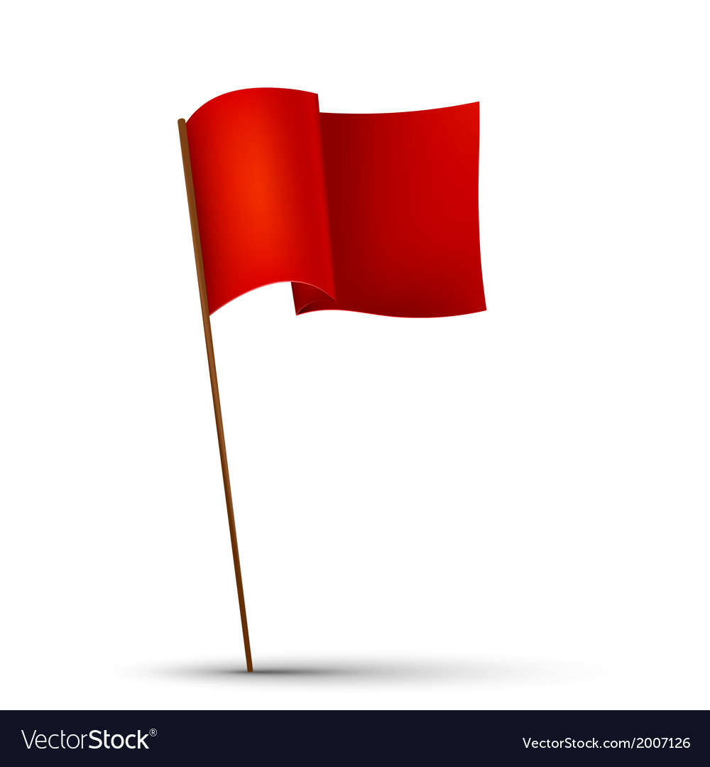 Red flag on the white background vector