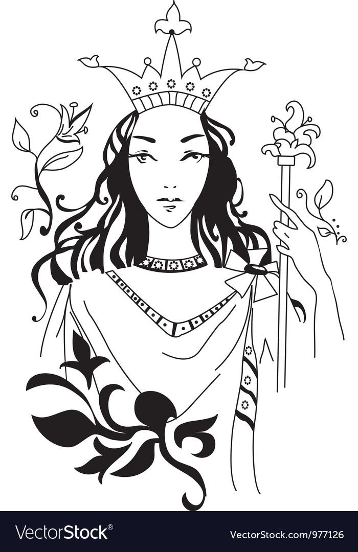 Romantic queen vector