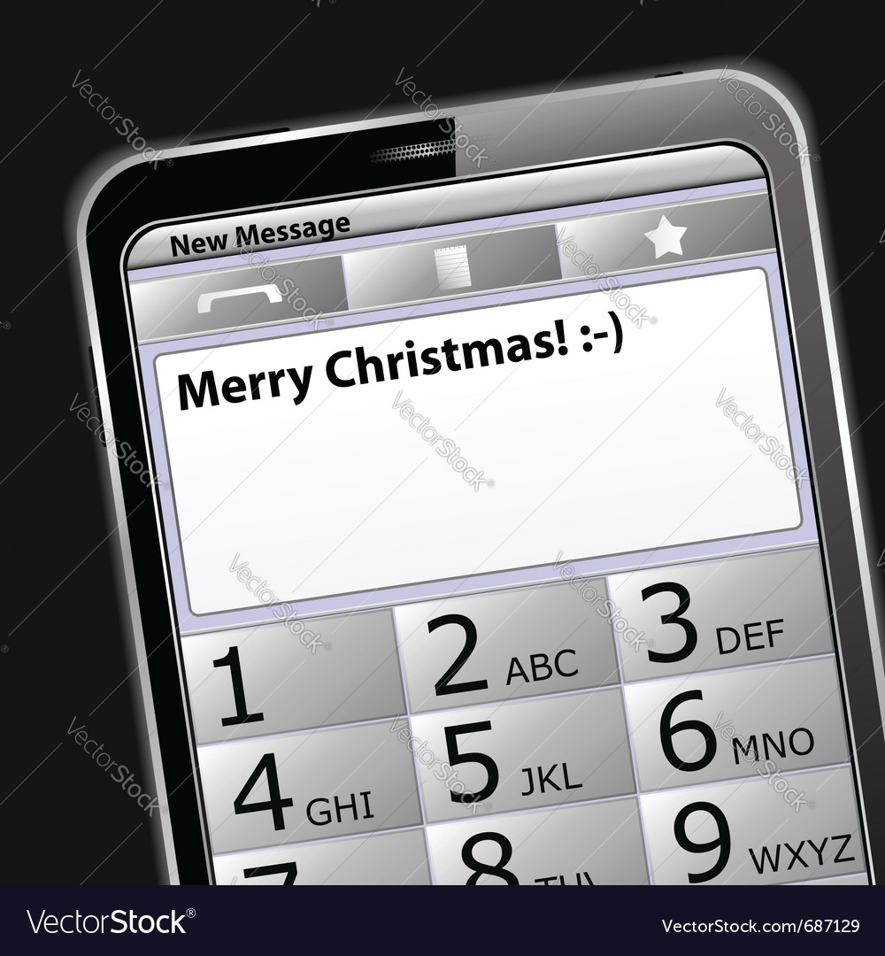 Smartphone with sms on the screen vector